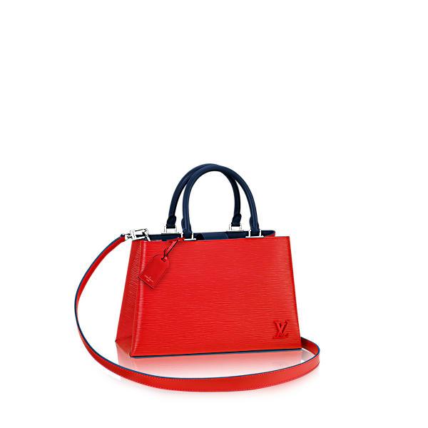Louis Vuitton Kleber Pm Epi Coquelic. In Coquelicot