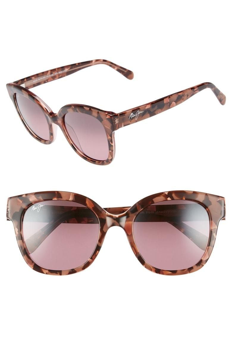 12bf1344761d Maui Jim Honey Girl 51Mm Polarizedplus2 Cat Eye Sunglasses - Blush Pink/  Maui Rose