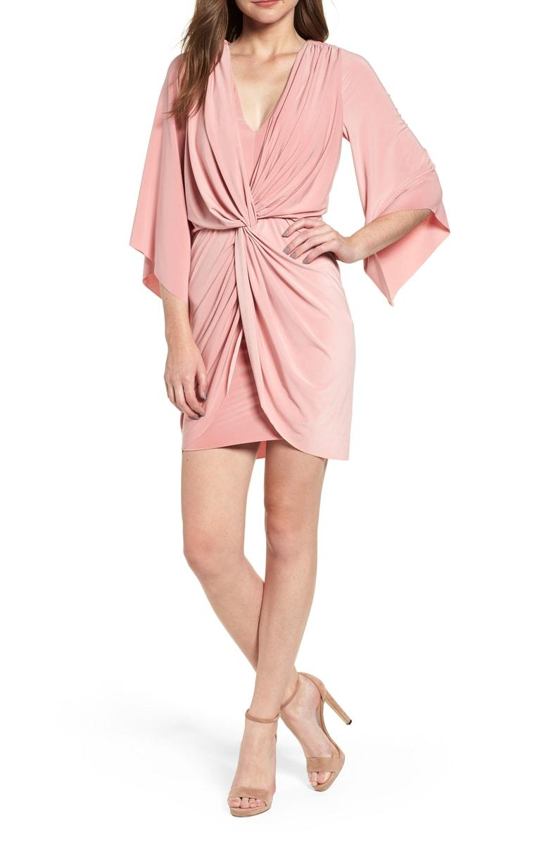 2cd14d5c7f19 Misa Teget Knot Front Dress In Dusty Rose | ModeSens