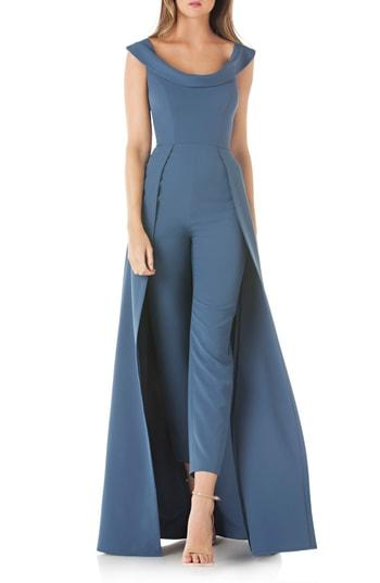236f28285de Kay Unger Jumpsuit Gown In Deep Blue Sea