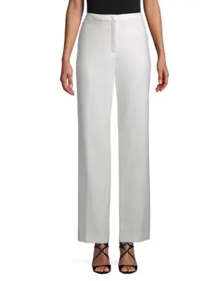 Escada Tamineh Wide-Leg Pants In White
