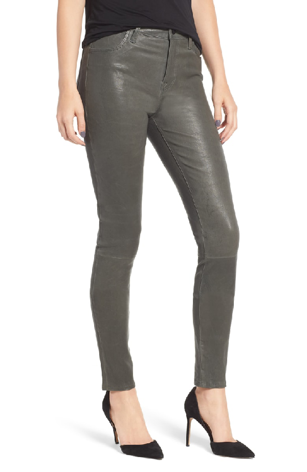 f581e292ea966d J Brand 'Maria' Lambskin Leather Leggings In Granite | ModeSens
