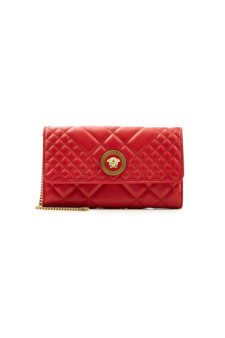 Versace Leather Shoulder Bag In Red