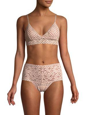 ce54acf417 A stretch-lace triangle bralette charmed with tiny dots features removable  padding that subtly supports smaller frames. Style Name  Hanky Panky Pixie  Dot ...