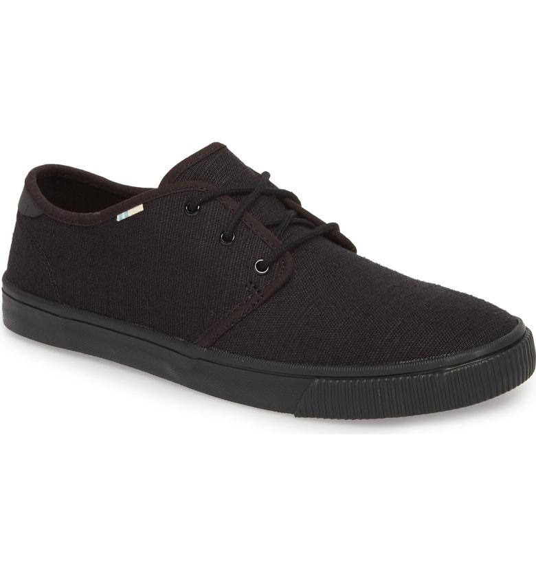 c3a6b0f4170 Toms Carlo Low Top Sneaker In Black  Black Heritage Canvas
