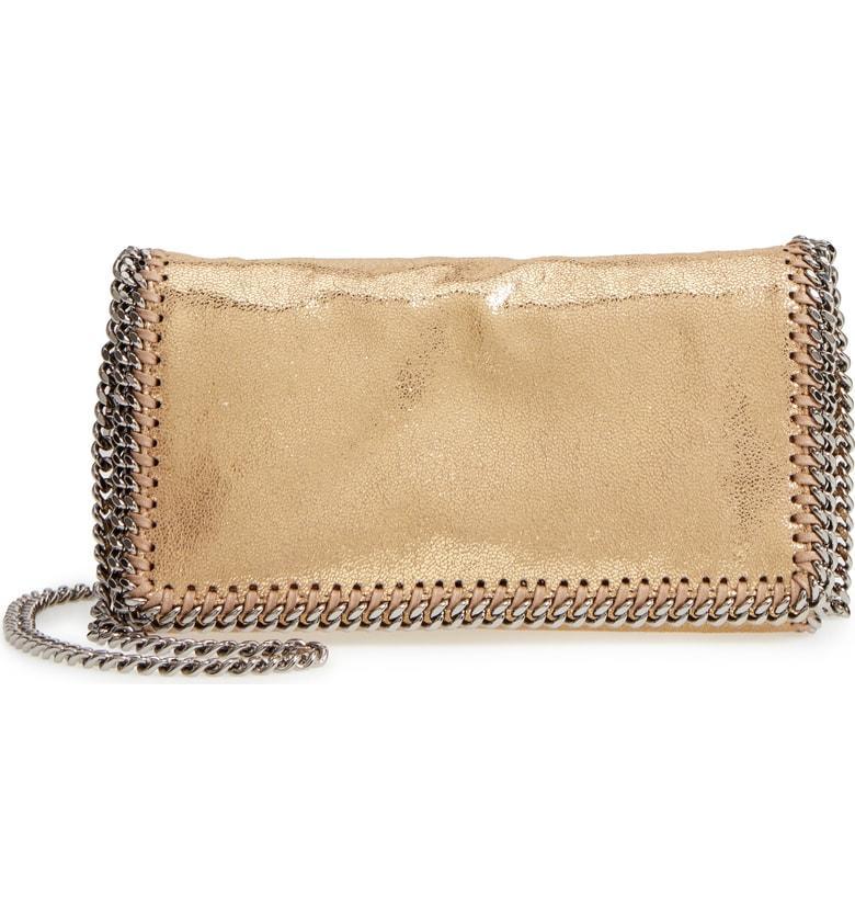 Stella Mccartney 'Falabella' Crossbody Bag - Metallic In Gold
