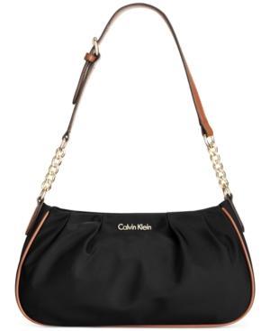 Calvin Klein Dressy Nylon Demi In Black/gold
