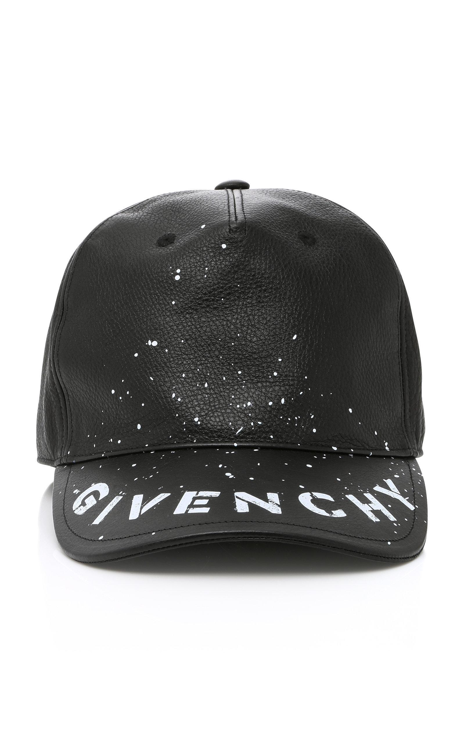 00cabe43 Givenchy Logo-Print Leather Baseball Cap - Black - One Siz   ModeSens