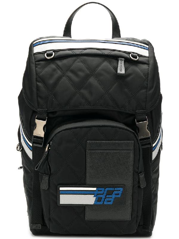 be1f84a3b5da Prada Quilted Utility Backpack In Black | ModeSens