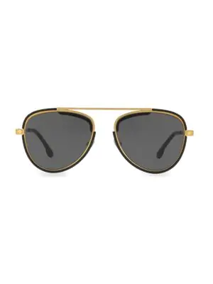 Versace 56Mm Aviator Sunglasses In Antique Gold