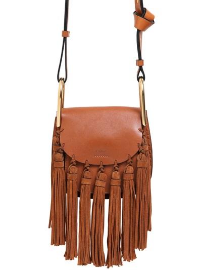 4efb1351a7 Mini Hudson Leather Bag W/ Suede Tassels, Brown
