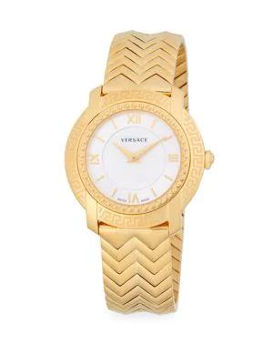 Versace Stainless Steel Bracelet Watch In Gold