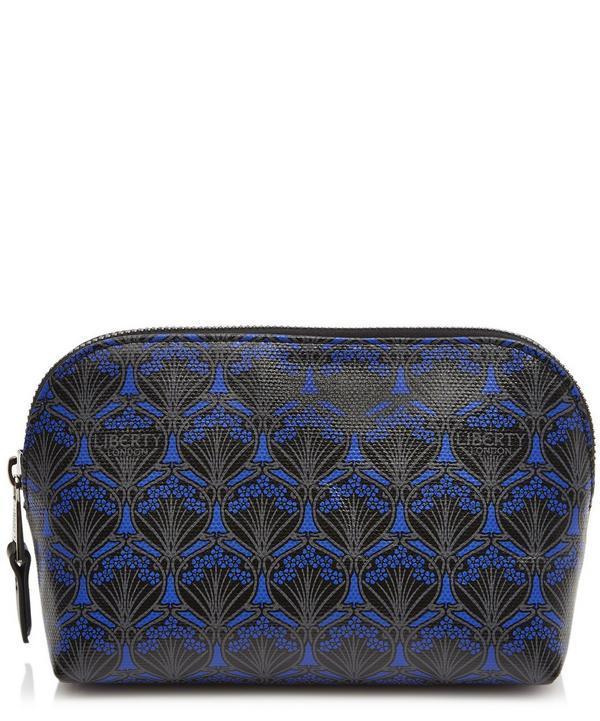 Liberty London Iphis Canvas Makeup Bag In Dark Blue