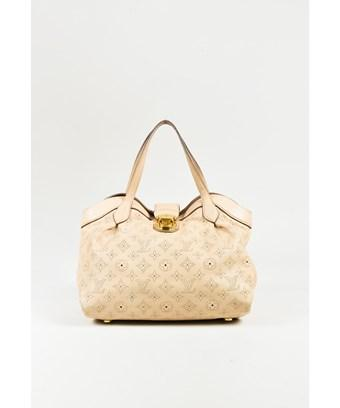 "Louis Vuitton 1  ""Coquill"" Beige Monogram ""Mahina"" Leather ""Cirrus Pm"" Bag"