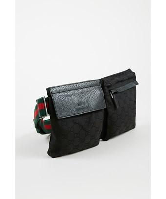 5cd63baeed48 Gucci Pre-Owned Black Canvas & Leather