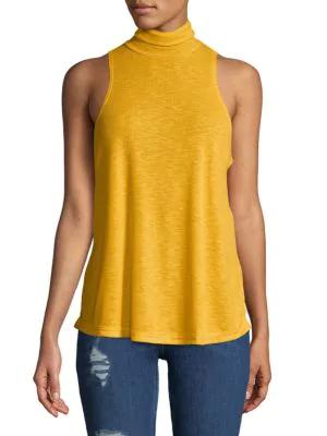 82510b5b62cfc Free People Topanga Sleeveless Turtleneck Top In Yellow