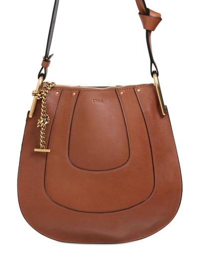 76519610 Small Hayley Smooth Leather Hobo Bag, Tan