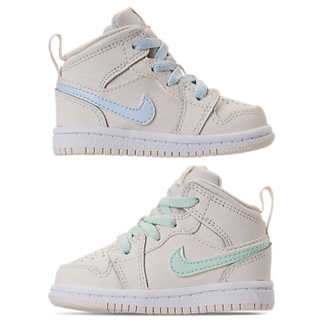 release date 21631 34294 Girls' Toddler Air Jordan 1 Mid Casual Shoes, White