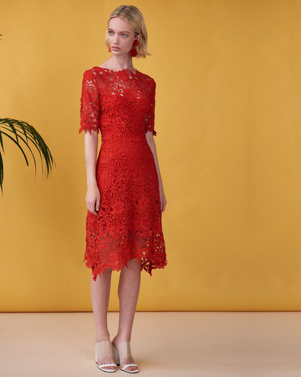 Ukulele Anais Dress In Red