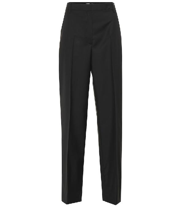 Prada Pantaloni Smoking In Mohair E Lana In Black