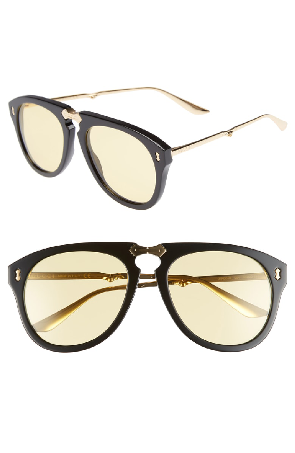 93758e3e72 Gucci Big Rivets 56Mm Aviator Sunglasses - Gold