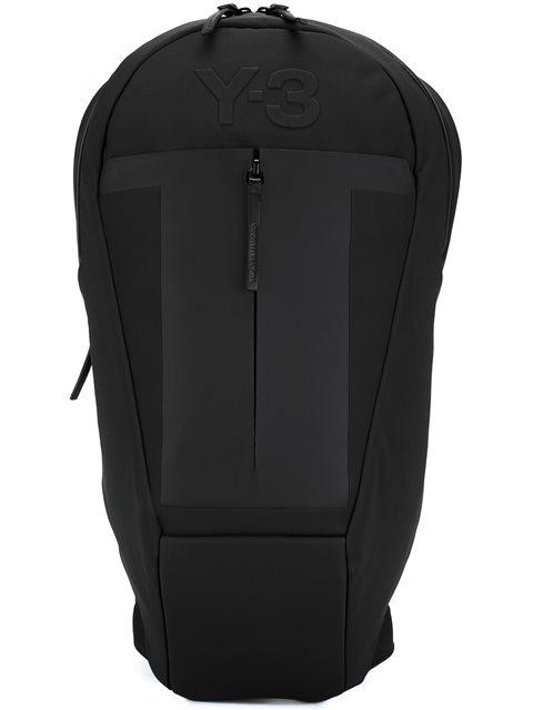Y-3 Embossed Logo Backpack In Black