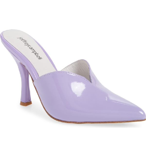 9edaede5e68 Jeffrey Campbell Jodeci Sweetheart Mule Pump In Lilac Patent