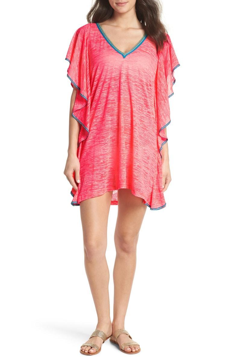 e924ae6e961 Pitusa Flare Cover-Up Minidress In Hot Pink