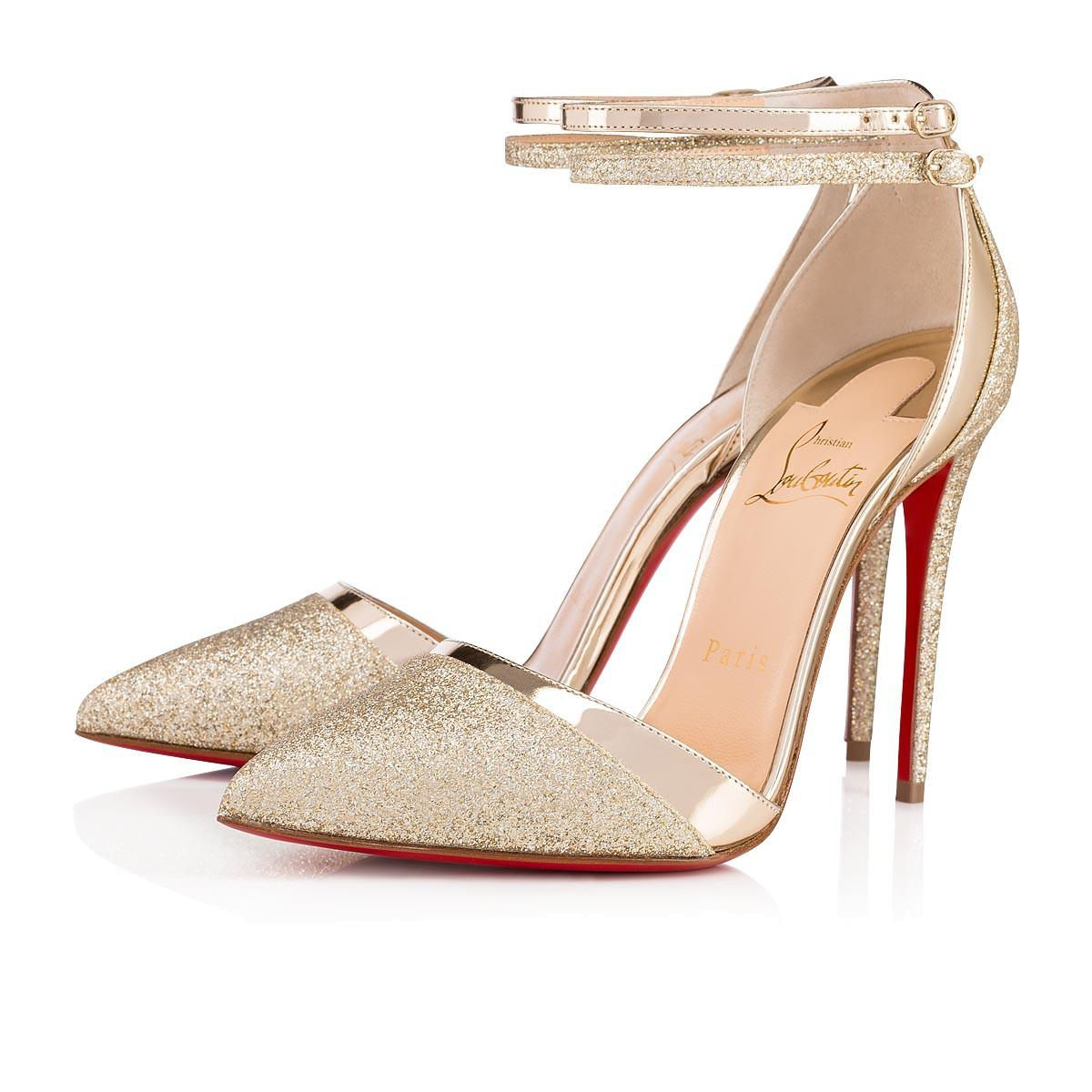 2996cd805b7 Christian Louboutin Uptown Double Glitter Tonic/Specchio In Platine ...