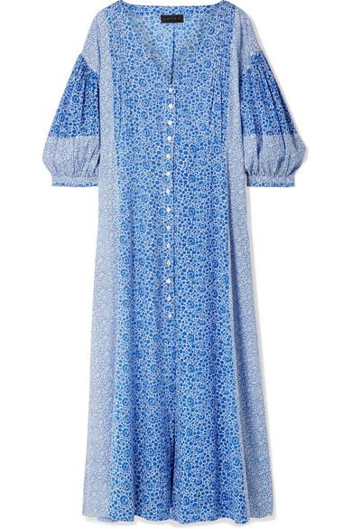 f745613256 Hatch Nessa Floral-Print Cotton-Voile Midi Dress In Blue | ModeSens