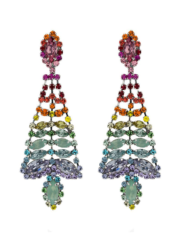 2a3347f00 Dannijo Lala Rainbow Crystal Statement Chandelier Earrings In Multicolour