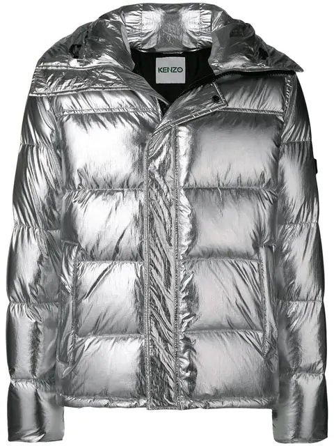 3c7ad73d Metallic Puffer Hooded Jacket