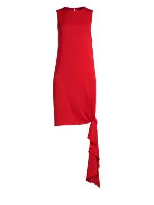 ec5052db Milly Stretch Silk Chiara Shift Dress In Ruby Red | ModeSens
