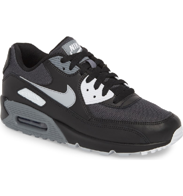 new product 8ea53 7e866 Nike Men s Air Max 90 Essential Low-Top Sneakers In Black  Wolf Grey