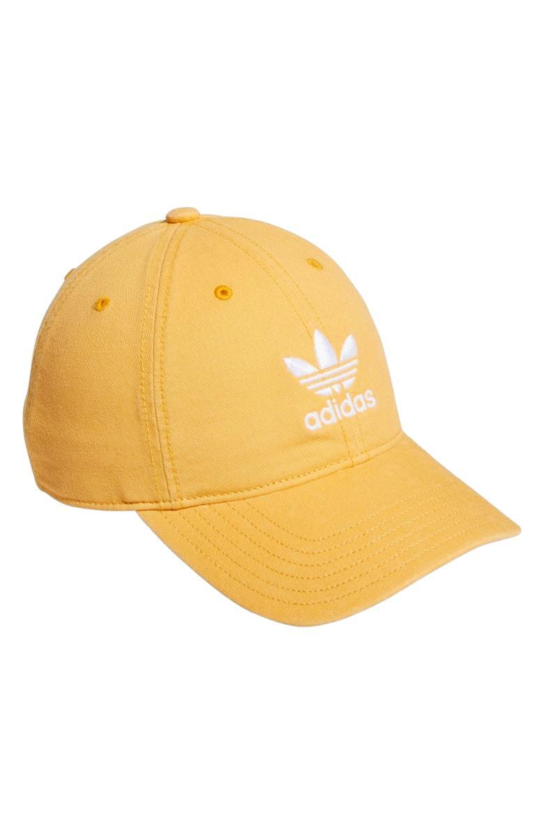 ad52c41156bec Adidas Originals Relaxed Strap-Back Cap - Orange In Chalk Orange ...