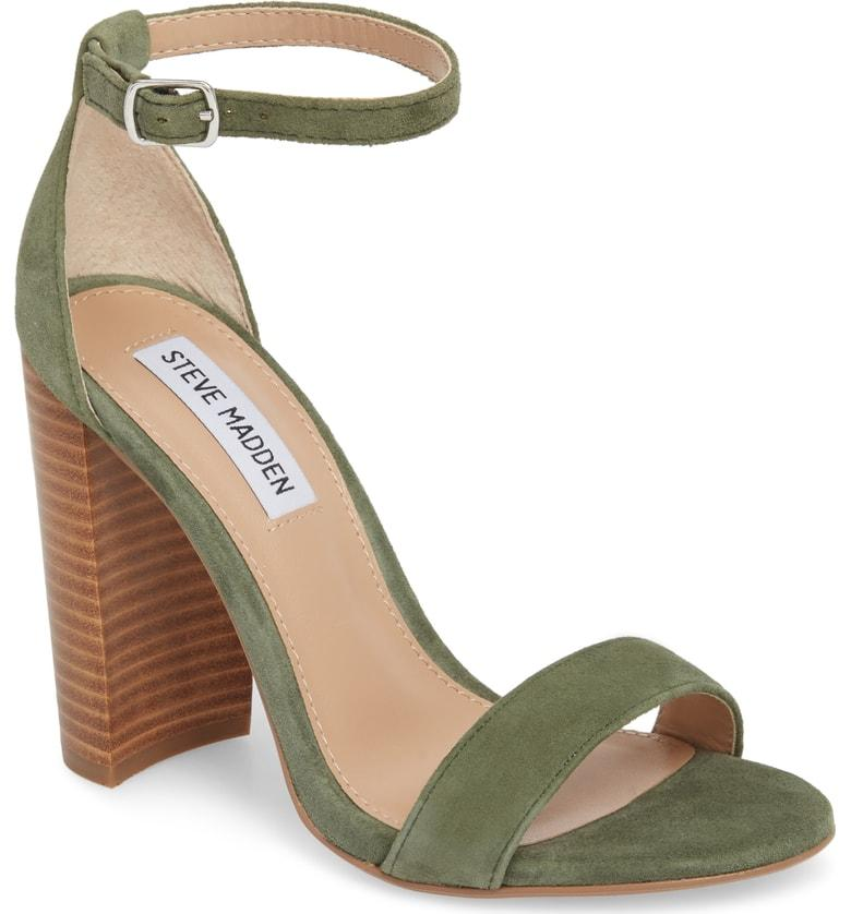 10f7c12ac7a A minimalist ankle-strap sandal is set on a chunky heel. Style Name  Steve  Madden Carrson Sandal (Women). Style Number  5047376 10. Available in stores .