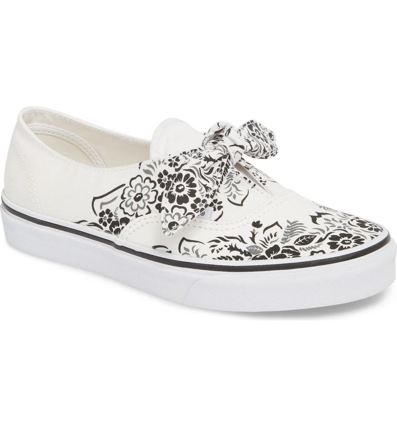 f1e4f1be013424 Style Name  Vans Ua Authentic Knotted Floral Bandana Slip-On Sneaker (Women).  Style Number  5581865. Available in stores.