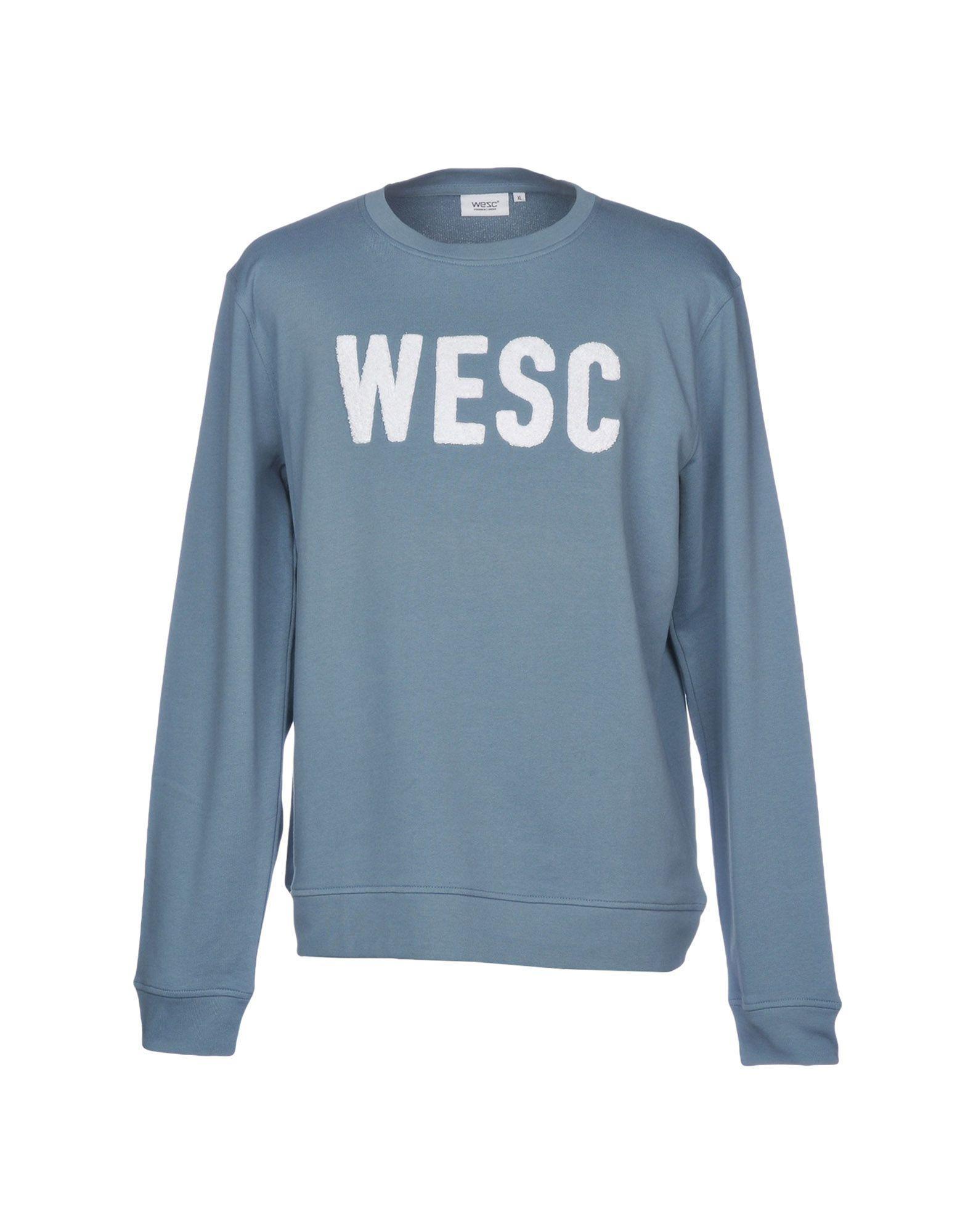 Wesc Sweatshirt In Slate Blue