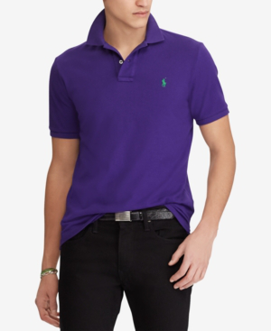 Polo Ralph Lauren Polo Mesh Classic Fit Polo Shirt In Chalet Purple/Pfl18