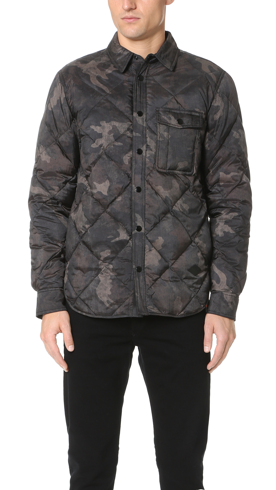 Rag & Bone Mallory Quilted Jacket In Camo