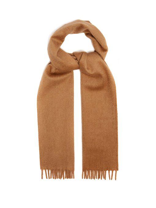 981b737fc Prada Camel-Hair Scarf | ModeSens