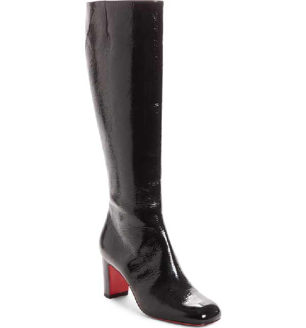 777f933ce54 Cadrilla Botta Patent Red Sole Boots in Black