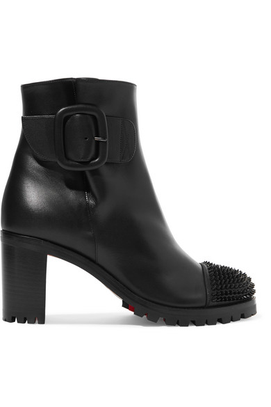 f9d275dd723 Christian Louboutin Olivia Snow 70 Spiked Leather Ankle Boots In Black