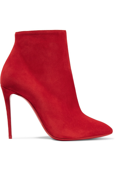 7a0f92f9c430 Christian Louboutin Eloise Suede Red Sole Booties