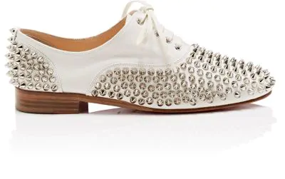 de884d9890a Christian Louboutin Freddy Spikes Donna Leather Oxfords - Latte ...