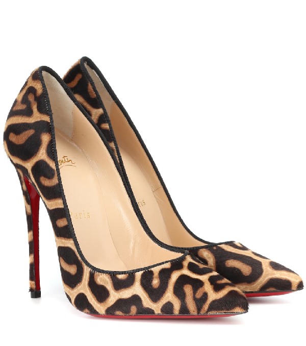 premium selection fb690 6e60d So Kate Leopard-Print Red Sole Pumps in Brown