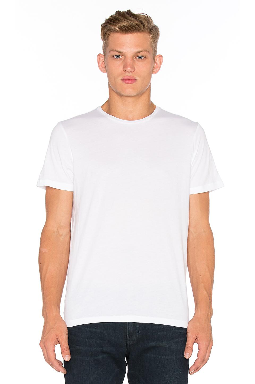 Frame Crew-neck Cotton-jersey T-shirt In Blanc