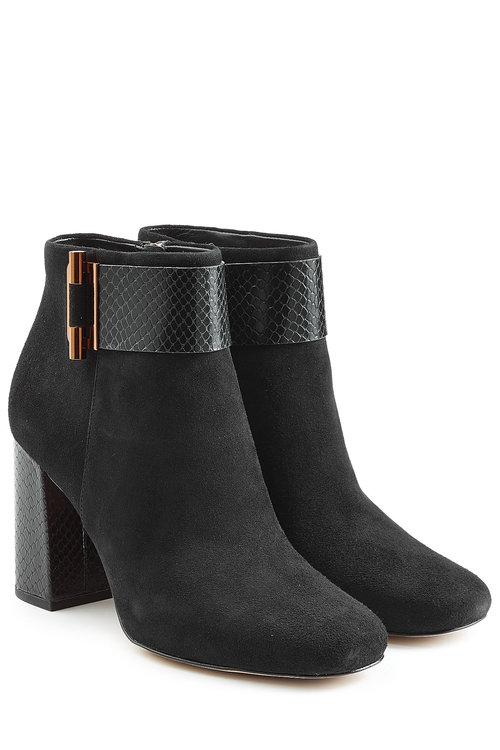 Michael Michael Kors Suede Ankle Boots In Black