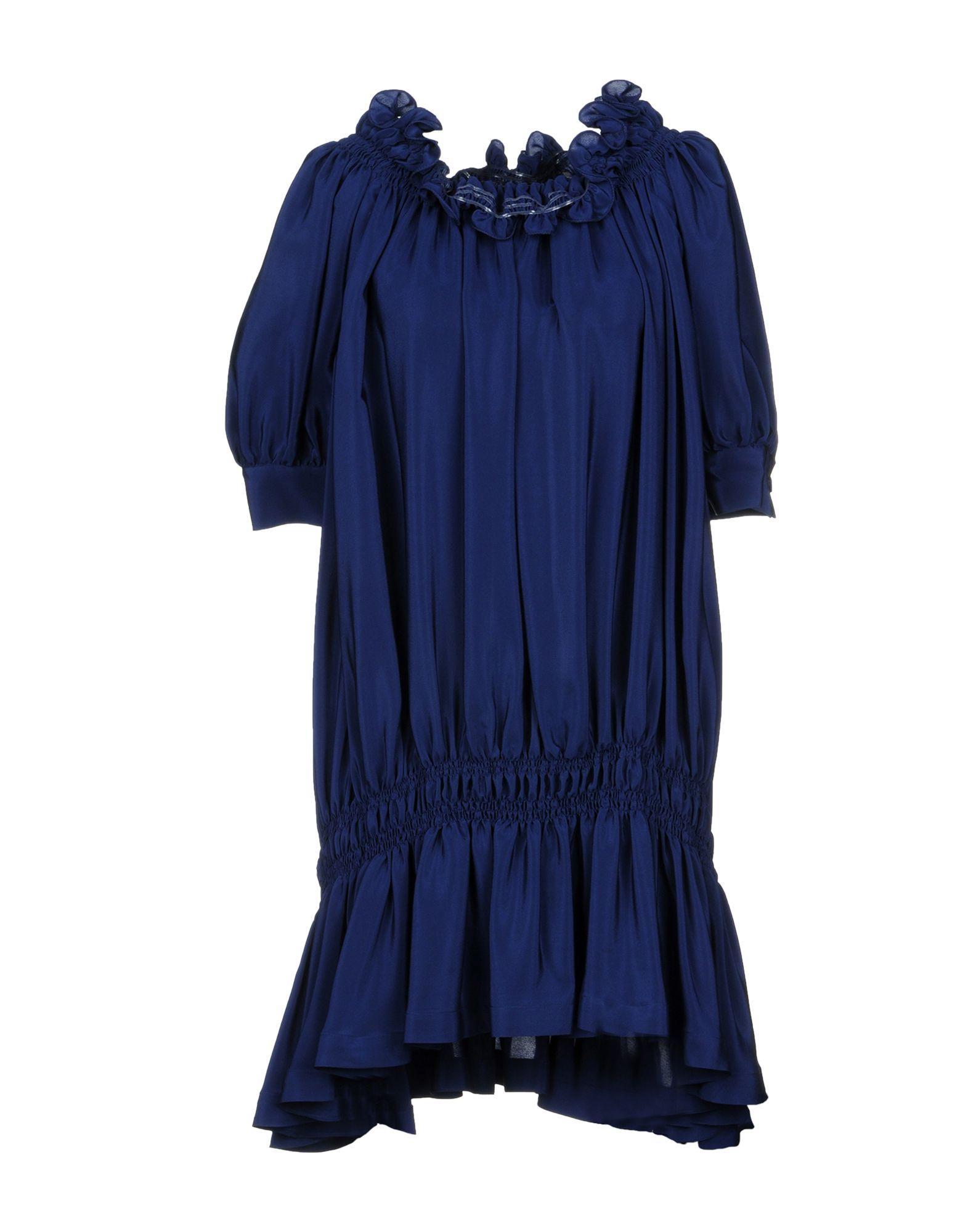 Rossella Jardini Short Dress In Dark Blue
