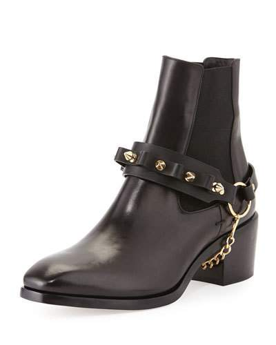Daniele Michetti Olivia Chain-Strap Ankle Boot, Black